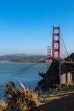 Słoneczny dzień przy Golden Gate Bridge w San Fransisco, Kalifornia Fotografia Royalty Free