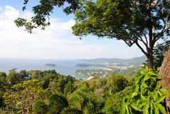 Słoneczny dzień przy karon widoku punktem, Phuket, Tajlandia zdjęcie royalty free