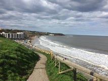 Słoneczny dzień przy Scarborough seashore Obraz Stock