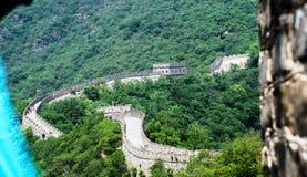 Słoneczny dzień przy wielkim murem Chiny zdjęcia royalty free