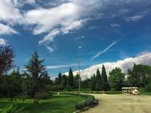 Słoneczny dzień przy wytwórnii win ÅipÄ  anik, Montenegro Obrazy Stock