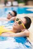 Słoneczny dzień w basenie zdjęcie stock