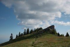 Słoneczny dzień w górach Zdjęcia Royalty Free