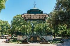 Słoneczny Dzień W Jardim da Estrela parku W Lisbon Zdjęcia Royalty Free