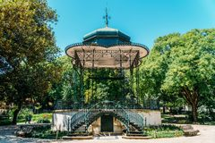 Słoneczny Dzień W Jardim da Estrela parku W Lisbon Fotografia Royalty Free