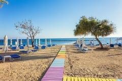 Słoneczny dzień w kurorcie Paphos, Cypr Obraz Royalty Free