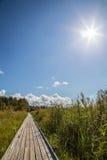 Słoneczny dzień w Szwecja Karlstad Fotografia Stock