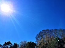 Słoneczny dzień w technologicznym parku Cerdanyola Del Valles Zdjęcie Stock