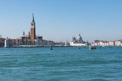 Słoneczny dzień w Wenecja Włochy BW obraz stock