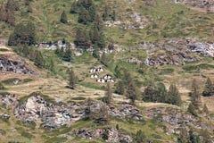 Słoneczny dzień w Zermatt, Szwajcaria obrazy stock