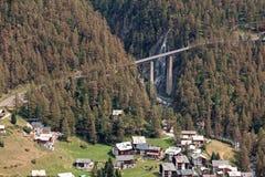 Słoneczny dzień w Zermatt, Szwajcaria zdjęcie royalty free