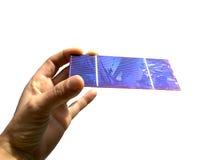 słoneczny komórka biel fotografia stock