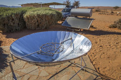 Słoneczny lustro w Rolnym Gunsbewys w południowym Namibia Zdjęcie Royalty Free