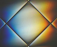 Słoneczny widmo odbija w szklanej płytce Obrazy Royalty Free