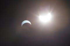 Słoneczny zaćmienie Dallas Teksas Fotografia Royalty Free