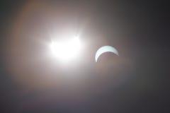 Słoneczny zaćmienie Dallas Teksas Fotografia Stock