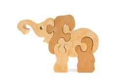 słonia łamigłówki kształt drewniany Obrazy Royalty Free