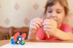 słonia dziewczyny wzorowanie czym był Obrazy Stock