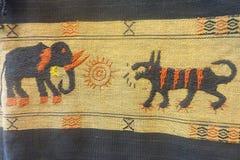 Słonia i lisa ręki broderia Obraz Stock