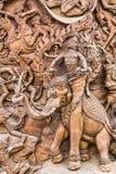 słonia laithai kamienna ściana Zdjęcia Stock