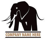 Słonia logo Obraz Stock