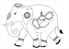 Słonia projekt royalty ilustracja