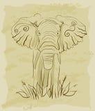 słonia rocznik royalty ilustracja