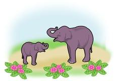 słonie szczęśliwi Zdjęcie Stock
