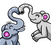 Słonie w miłości ilustracja wektor