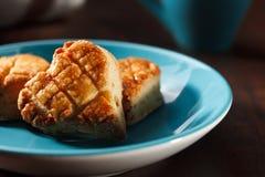 Słony masła scone dla dnia Zdjęcia Stock