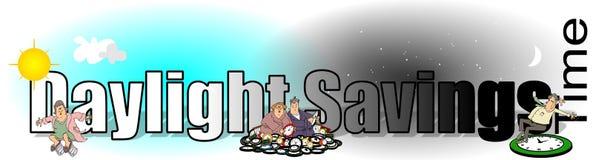 Słowa światła dziennego Savings czas Fotografia Stock