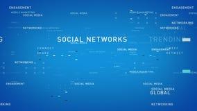 Słowa kluczowe Ogólnospołeczny Medialny Błękitny Lite royalty ilustracja