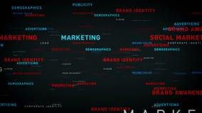 Słowa kluczowego biznesowy marketingowy czerń ilustracji