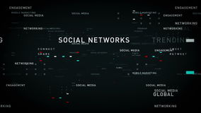 Słowa kluczowego ogólnospołeczny medialny czerń ilustracji