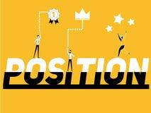 Słowa pojęcia pozycja i ludzie robi aktywność royalty ilustracja