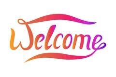 Słowa powitanie dla twój projekta Wektorowy sztandar z przemianą Fotografia Stock