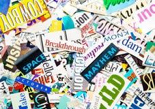 Słowa tło Fotografia Stock
