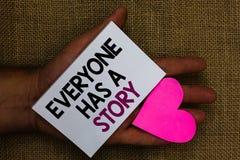 Słowa writing tekst Everyone opowieść Biznesowy pojęcie dla tło relaci mówi twój wspominki bajkom Ludzkiego ręki touche zdjęcie royalty free