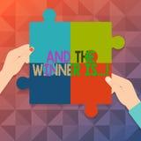 Słowa writing tekst I zwycięzca Jesteśmy Biznesowy pojęcie dla ogłaszać czego dostać pierwszy miejsce przy rywalizacją Cztery lub ilustracja wektor