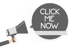 Słowa writing tekst Klika Ja Teraz Biznesowy pojęcie dla Internetowej pomagać biurka prasy guzik ikony Nertwork mężczyzna mienia  ilustracja wektor