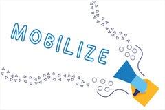 Słowa writing tekst Mobilizuje Biznesowy pojęcie dla robi coś movable lub sposobny ruch przygotowywać rozmieszcza ilustracja wektor