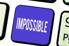 Słowa writing tekst Niemożliwy Biznesowy pojęcie dla sprawnie zdarzać się istnieje lub był robić Trudny Rzucać wyzwanie zdjęcie stock