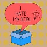 Słowa writing tekst Nienawidzę Mój pracę Biznesowy pojęcie dla Don t jak wyznaczający zadanie pracować pomysł ikonę lub robić Żad ilustracja wektor