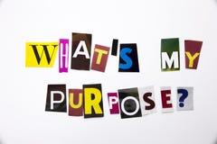 Słowa writing tekst pokazuje pojęcie Jaki ` s Purpose Mój pytanie zrobił różny magazyn gazety list dla Biznesowej skrzynki o zdjęcia royalty free