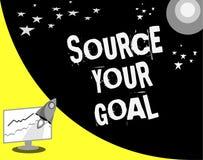 Słowa writing teksta źródło Twój cel Biznesowy pojęcie dla pracy na twój sen i ustala dlaczego robić że Ustalony spisuje royalty ilustracja