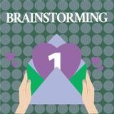 Słowa writing teksta Brainstorming Biznesowy pojęcie dla chwyta grupowa dyskusja produkować pomysł drużyny pracy spotkania royalty ilustracja