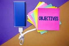 Słowa writing teksta cele Biznesowy pojęcie dla celów planujących dokonującymi Pragnął cel firmy misj Wieloskładnikowego colour s Zdjęcie Stock