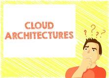 Słowa writing teksta chmury architektury Biznesowy pojęcie dla Różnorodnych Konstruujących baz danych Softwares zastosowań ilustracji