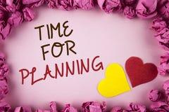 Słowa writing teksta czas Dla Planować Biznesowy pojęcie dla początku projekt Robi decyzjom Organizatorskiemu rozkładowi pisać na Obraz Royalty Free