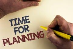 Słowa writing teksta czas Dla Planować Biznesowy pojęcie dla początku projekt Robi decyzjom Organizatorskiemu rozkładowi pisać mę Zdjęcie Stock